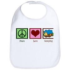 Peace Love Camping Bib