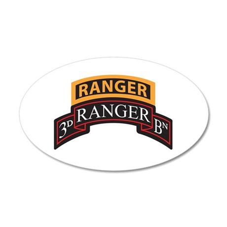 3D Ranger BN Scroll with Rang 35x21 Oval Wall Peel