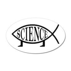 Science Fish 20x12 Oval Wall Peel