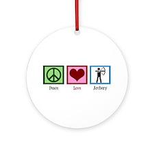 Peace Love Archery Ornament (Round)