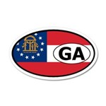 Georgia State Flag 20x12 Oval Wall Peel