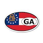 Georgia State Flag 35x21 Oval Wall Peel