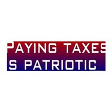 36x11 Wall Peel - Paying taxes is patriotic