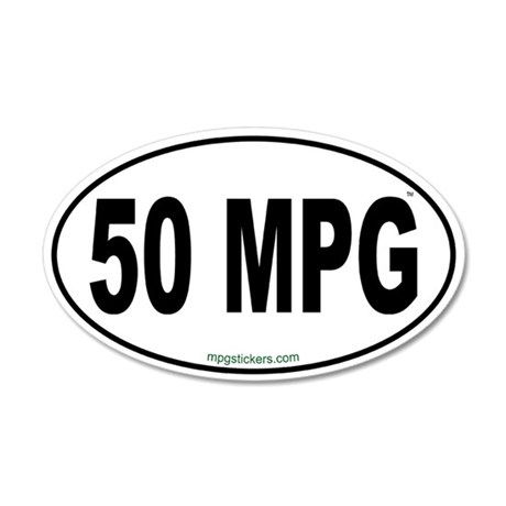50 MPG Euro Sticker