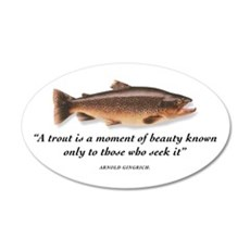 A trout is... 20x12 Oval Wall Peel