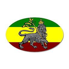 Rastafarian Flag 20x12 Oval Wall Peel
