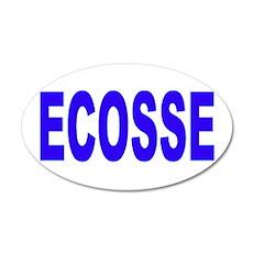 ECOSSE - SCOTLAND 20x12 Oval Wall Peel