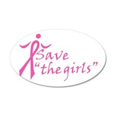 Save the Girls 20x12 Oval Wall Peel