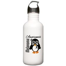 Penguin Cancer Awareness Water Bottle