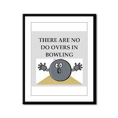 bowling Framed Panel Print
