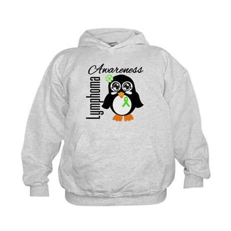 Penguin Cancer Awareness Kids Hoodie