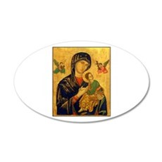 Blessed Mother of Perpetual H 20x12 Oval Wall Peel
