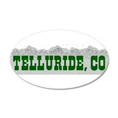 Telluride, Colorado 20x12 Oval Wall Peel