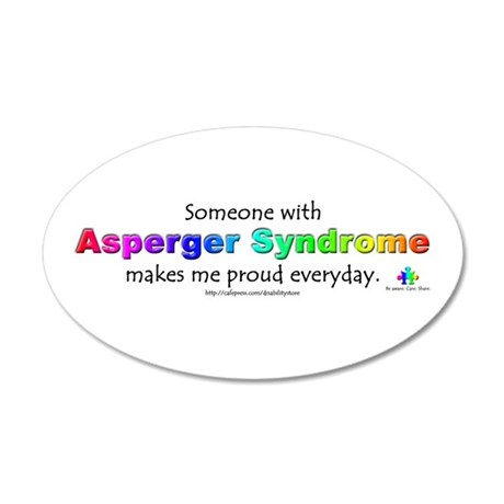 """""""Asperger Syndrome Pride"""" 20x12 Oval Wall Peel"""