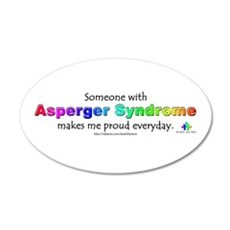 """Asperger Syndrome Pride"" 20x12 Oval Wall Peel"