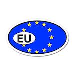 European Union Flag 20x12 Oval Wall Peel