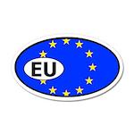 European Union Flag 35x21 Oval Wall Peel