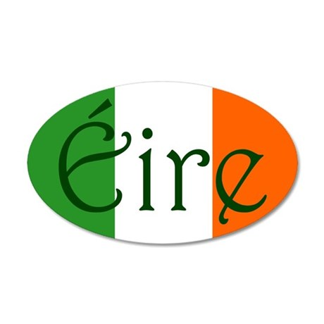 Éire (Ireland) 20x12 Oval Wall Peel