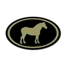 Draft Horse Oval (sage/blk) 20x12 Oval Wall Peel