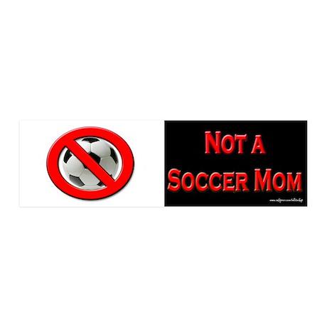 Not a Soccer Mom BW 20x6 Wall Peel
