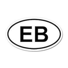 EB 20x12 Oval Wall Peel