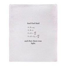 Maxwell's Equations Throw Blanket