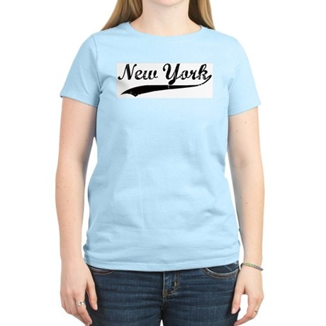 Vintage New York Women's Pink T-Shirt