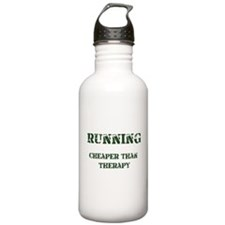 Running: Cheaper Than Therapy Water Bottle