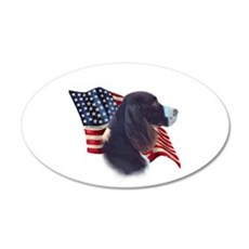 English Springer Flag 20x12 Oval Wall Peel