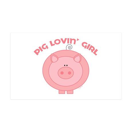 Pig girl 35x21 Wall Peel