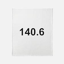140.6 (Ironman Triathlon) Throw Blanket