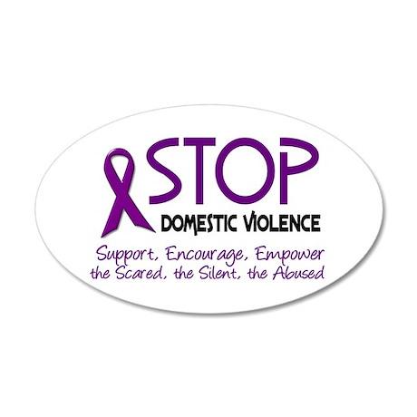 Stop Domestic Violence 2 20x12 Oval Wall Peel