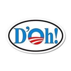 D'oh! Obama Euro 35x21 Oval Wall Peel