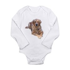 Golden Retriever Long Sleeve Infant Bodysuit