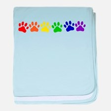 Rainbow Paws baby blanket