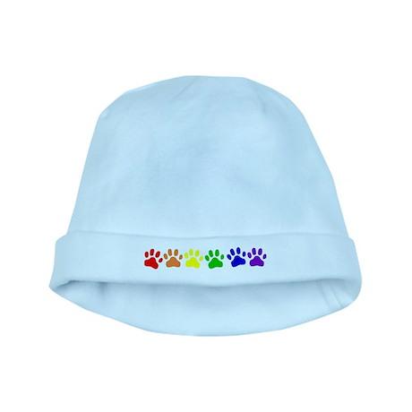Rainbow Paws baby hat