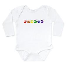 Rainbow Paws Long Sleeve Infant Bodysuit