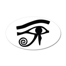 Eye of Horus Hieroglyphic 35x21 Oval Wall Peel