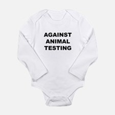 Against Animal Testing Long Sleeve Infant Bodysuit