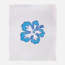 Blue Surf Flowers Throw Blanket