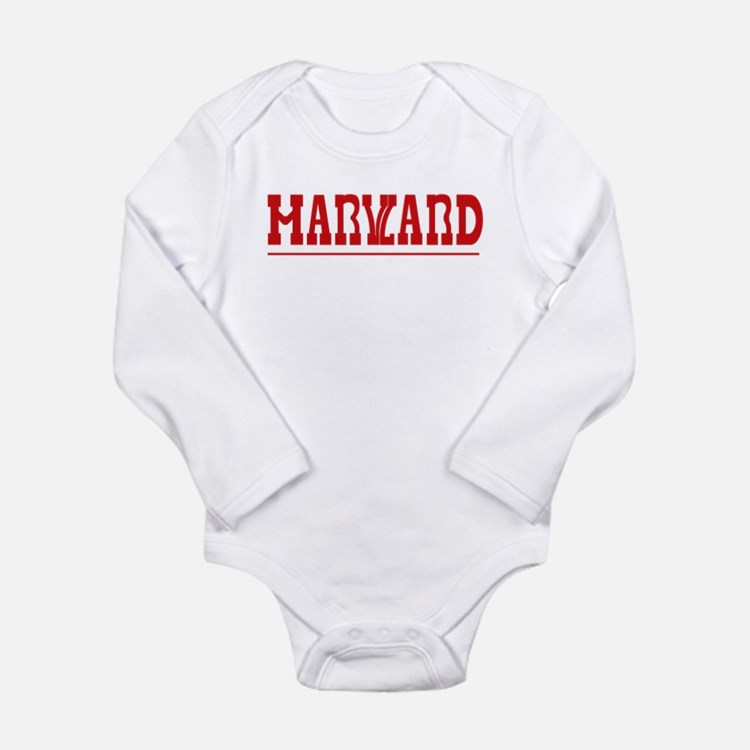 Maryland-Harvard Long Sleeve Infant Bodysuit