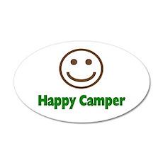 Happy Camper 35x21 Oval Wall Peel