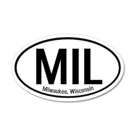 Milwaukee, Wisconsin 35x21 Oval Wall Peel