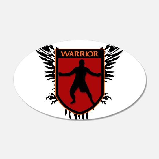 WARRIOR HEART 20x12 Oval Wall Peel