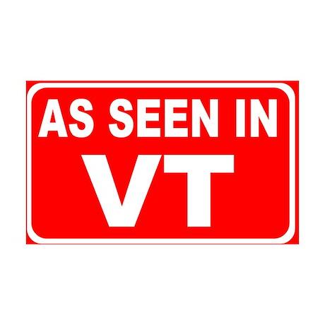As Seen in VT Rectangular Sticker