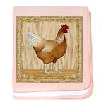 Golden Hen baby blanket