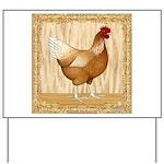 Golden Hen Yard Sign