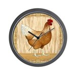 Golden Hen Wall Clock