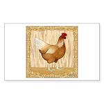 Golden Hen Sticker (Rectangle 10 pk)