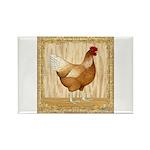 Golden Hen Rectangle Magnet (100 pack)